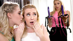 Samantha Rone, Cadence Lux and Sarah Vandella We DP'd Mom